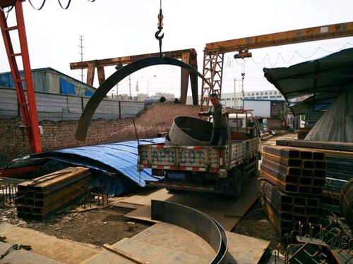 西安钢板加工cheng品装车
